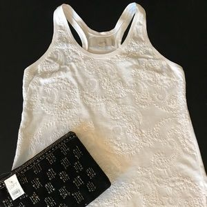 Loft crocheted tank W/ Loft purse